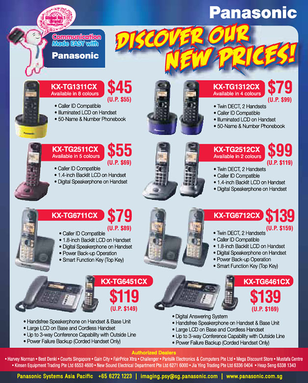 New Prices For Panasonic Cordless DECT Telephone Now Available