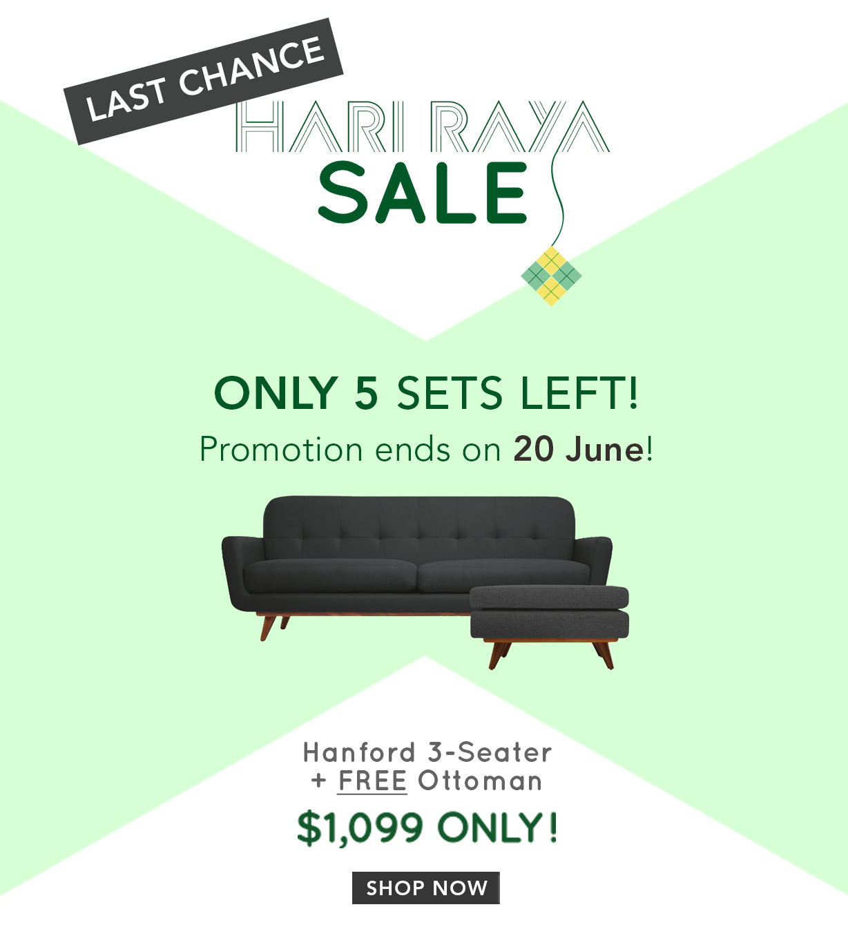 Castlery Celebrates Hari Raya – Free Ottoman With Hanford Sofa Purchase