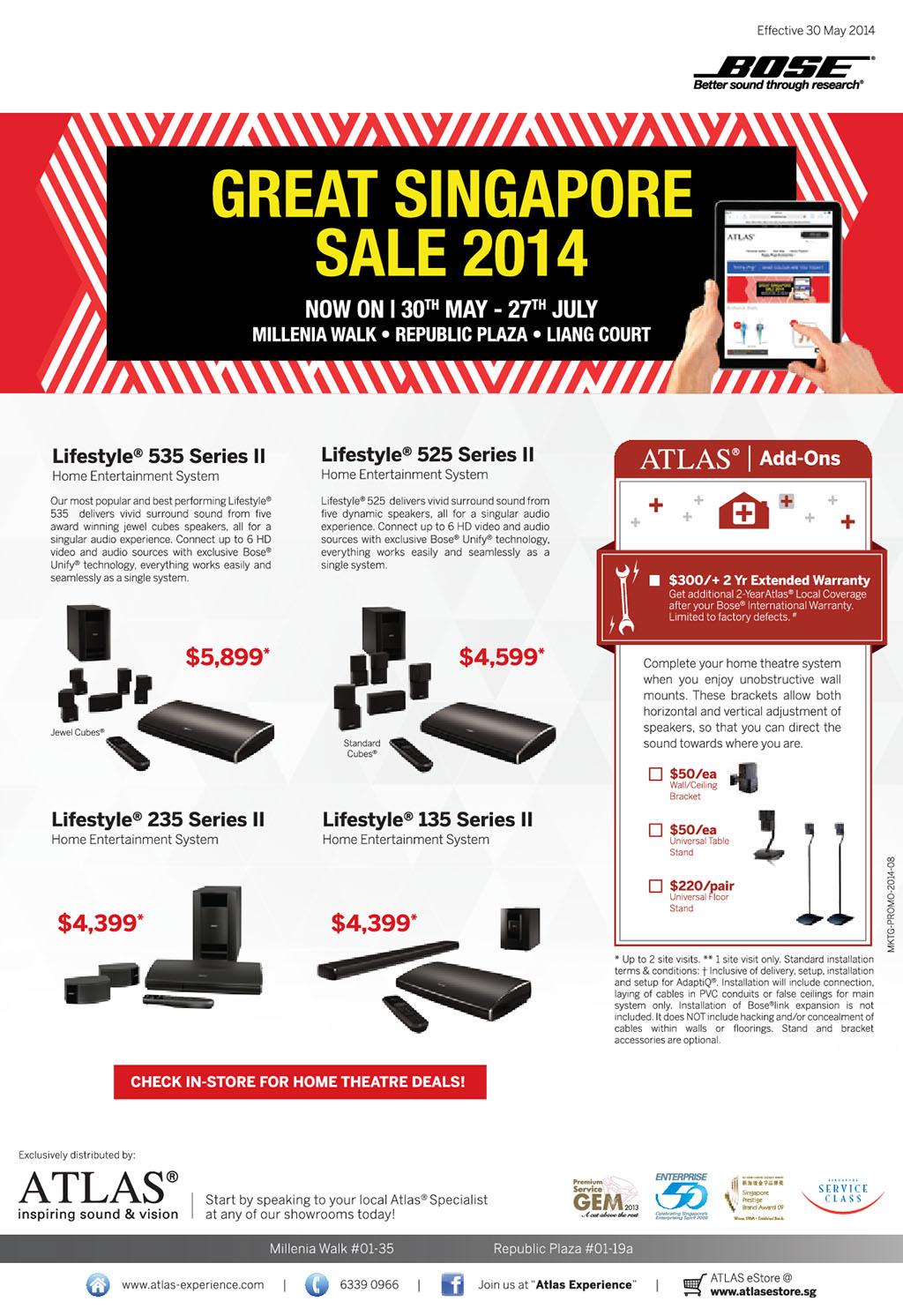 Bose Home Theatre, Speakers & Headphones GSS 2014 Sale Till July