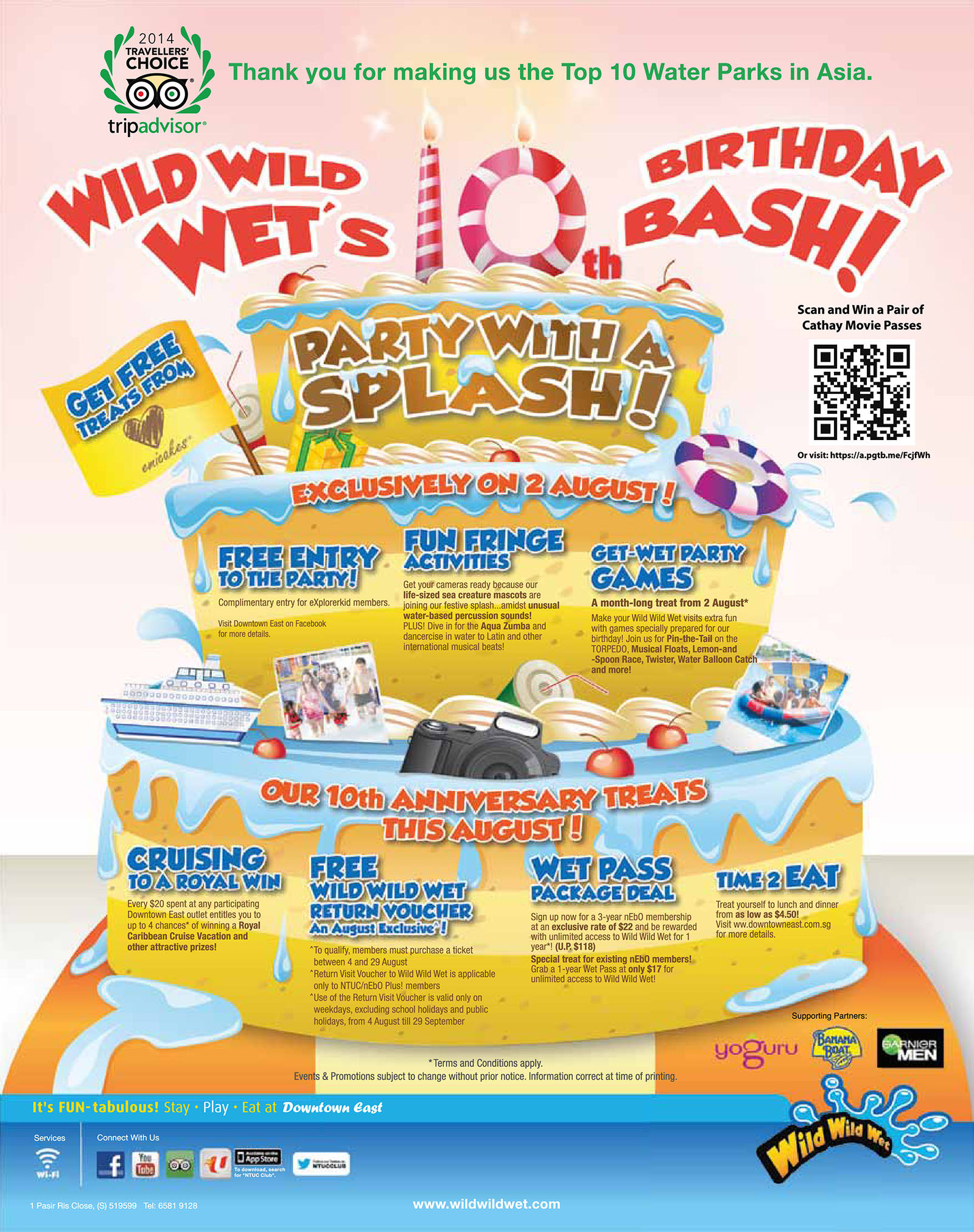 Wild Wild Wet 10th Birthday Bash August Promotions