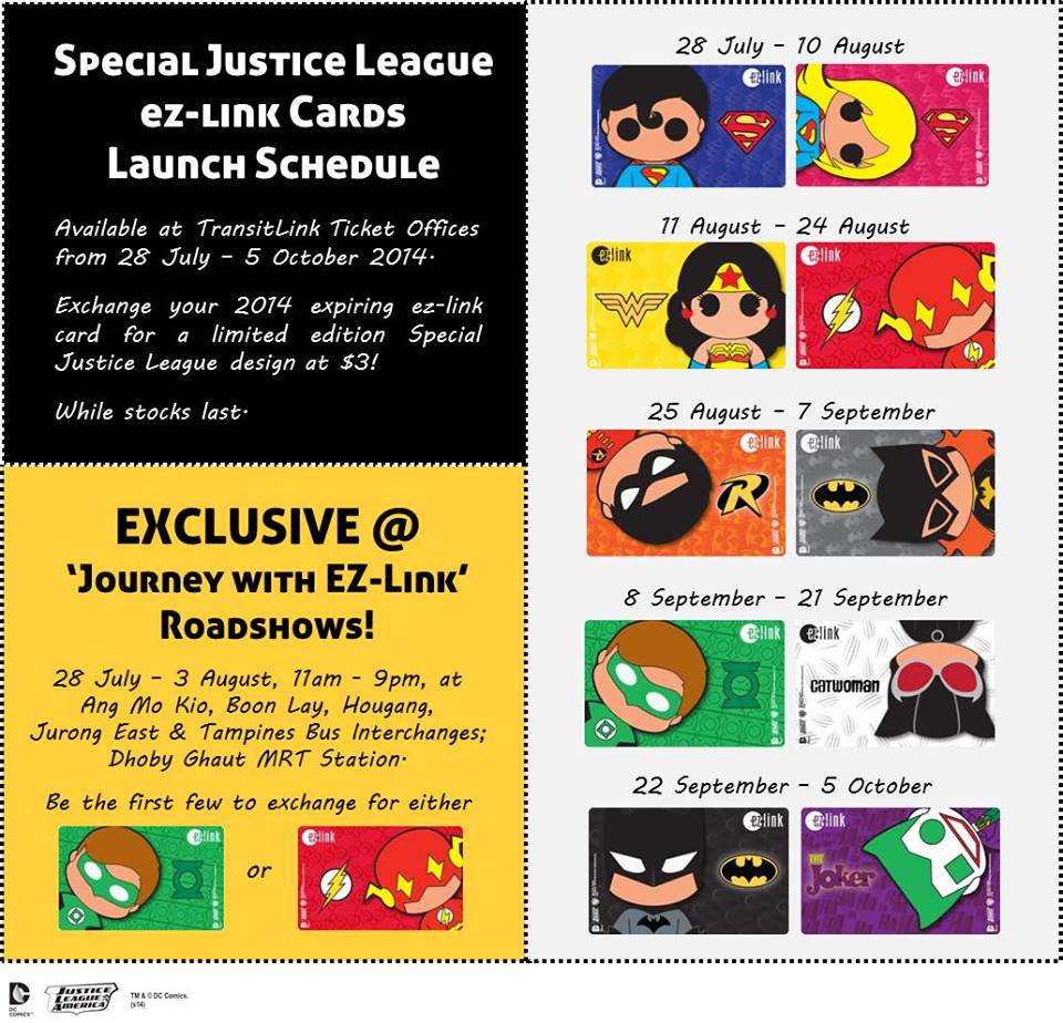 Exchange Your Expiring EZ-Link Cards For A Limited Edition Justice League Design