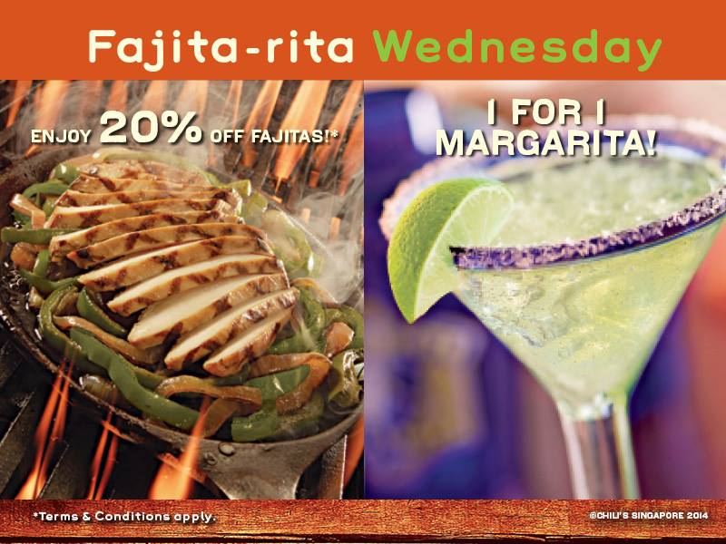 Enjoy Fajitas & Magaritas At A Steal @ Chili's Every Wednesday