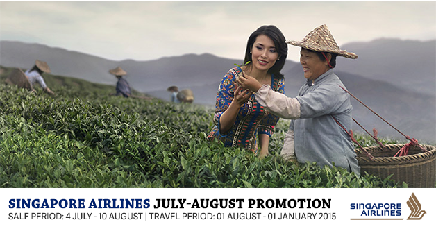 Singapore Airlines Promotional Airfares July & August 2014