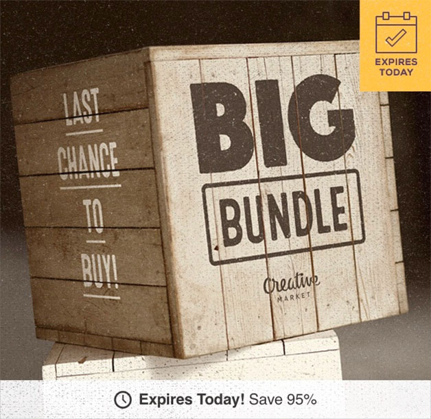 Creative Market Big Bundle: US$39 On Over 80 Designer Graphics & Fonts