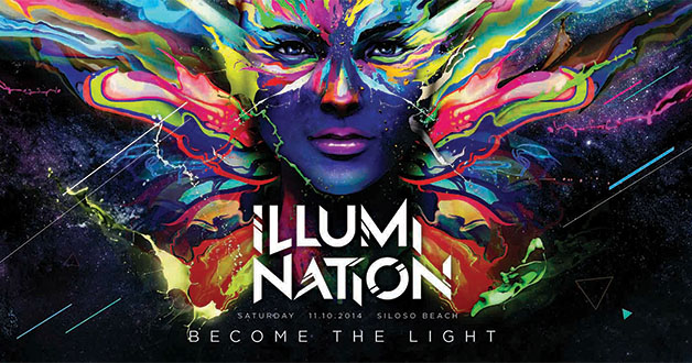 Party with Glow-in-the-Dark Paint with Illumi Nation @ Sentosa Siloso Beach