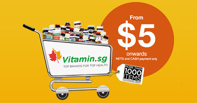 Vitamin.sg 3-Day Warehouse Sale on Branded Health Supplements