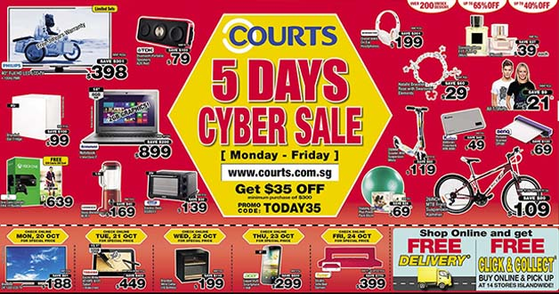 Courts 5-Day Cyber Sale on Home Electronics & Gadgets with Discount Code