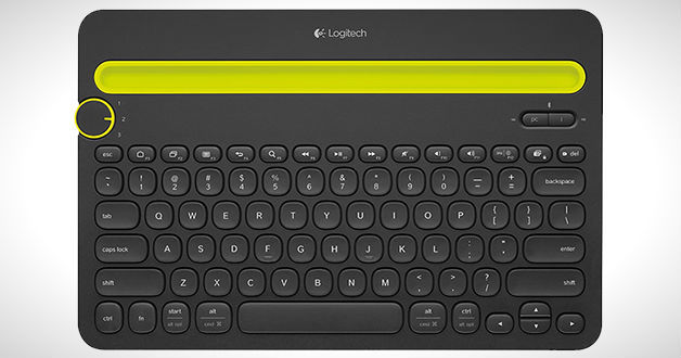 Logitech K480 Bluetooth Keyboard lets you switch between Devices easily