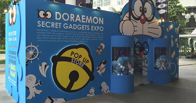 100 Doraemon Secret Gadgets Expo pop-up store at Bugis+ will run till New Year's Day