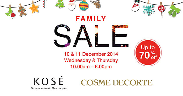 KOSÉ Singapore Family Sale returns with up to 70% off @ Great World City