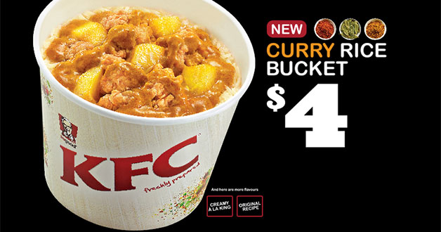 KFC Singapore welcomes the new year with Curry Rice Bucket
