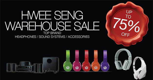 Hwee Seng Warehouse Sale returns this weekend with top audio brands