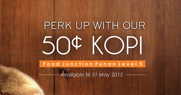 Food Junction @ Funan Mall now offering the cheapest coffee at just 50c per cup