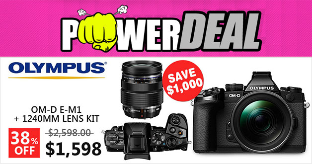 Here's a jaw-dropping offer on Olympus OM-D E-M1 camera kit on Qoo10