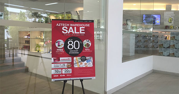 Aztech Warehouse Sale happening this weekend with cutout coupons