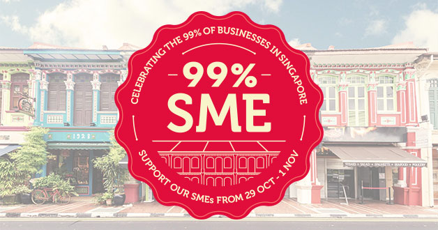 Support 99% SME participating shops to redeem 1GB free data from Singtel