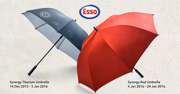 Redeem a free Golf Umbrella at Esso with minimum $50 spend on Synergy fuel