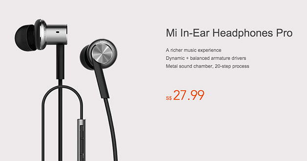 You can now buy the latest Mi In-Ear Headphones Pro for S$27.99
