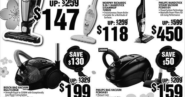Harvey Norman vacuum cleaner & steam-mop sale rescues your Spring Cleaning