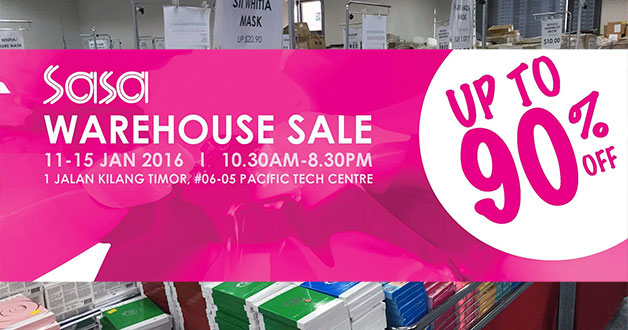 The official SaSa Singapore Warehouse Sale is happening this week