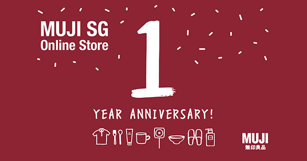 MUJI Singapore Online Store turns one: Discount coupon code your order plus lucky draw