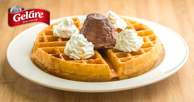 Enjoy Geláre Classic Waffle + Iced Lemon Tea for only $9.90 with this deal
