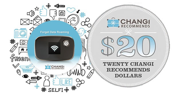 Enjoy 50% off Changi Recommends Overseas Wi-Fi Router Rental with this voucher