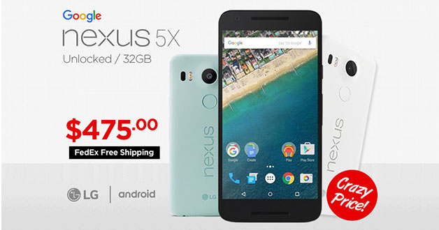 Buy the Google Nexus 5X Android smartphone for only S$475 now