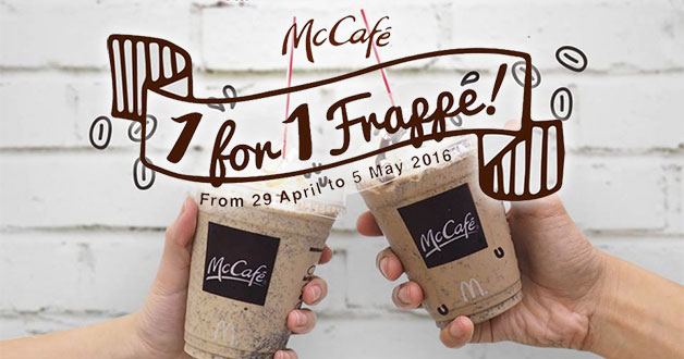 McCafe celebrates Coffee with 1-for-1 Frappe offer for a week