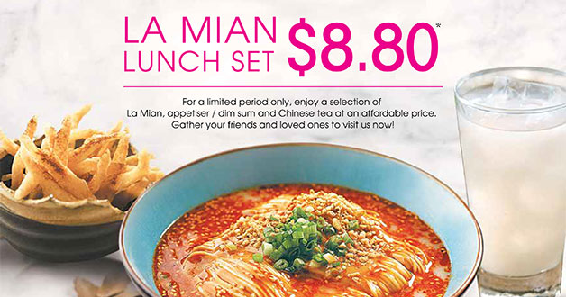 Only $8.80 for Crystal Jade 'La Mian' Lunch Set with DBS & POSB Cards