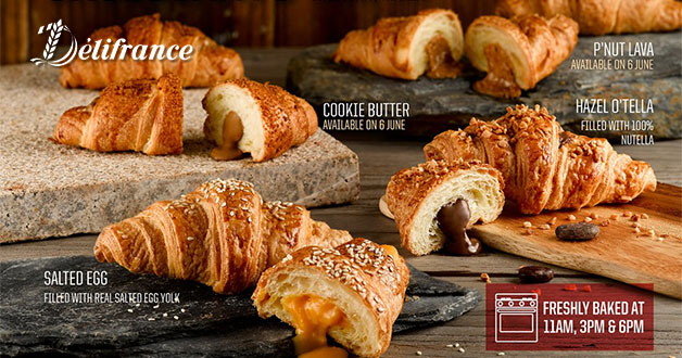 Delifrance Flavour-Bursting Croissants: Salted Egg, Nutella, Cookie Butter & Peanut