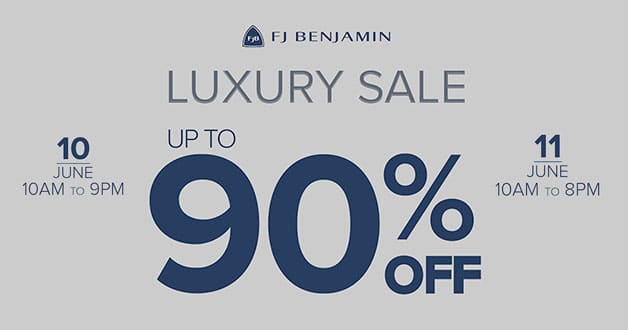 FJ Benjamin holds Luxury Sale at Hilton Hotel from June 10 this weekend