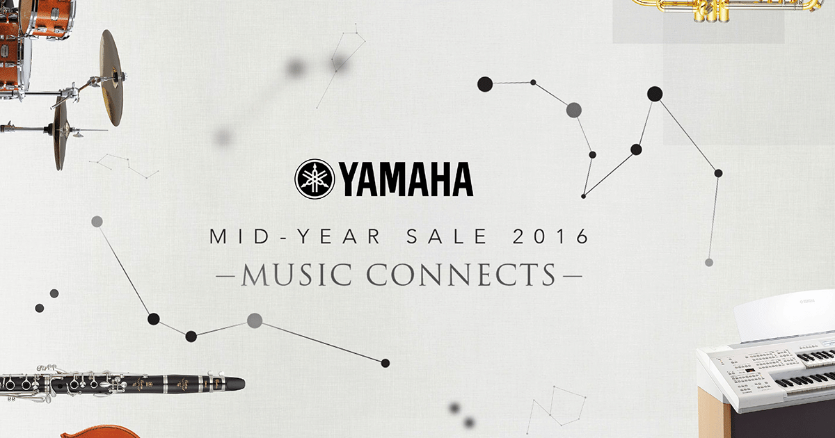 Yamaha Music Mid-Year Sale 2016: 12% – 15% Storewide Discount