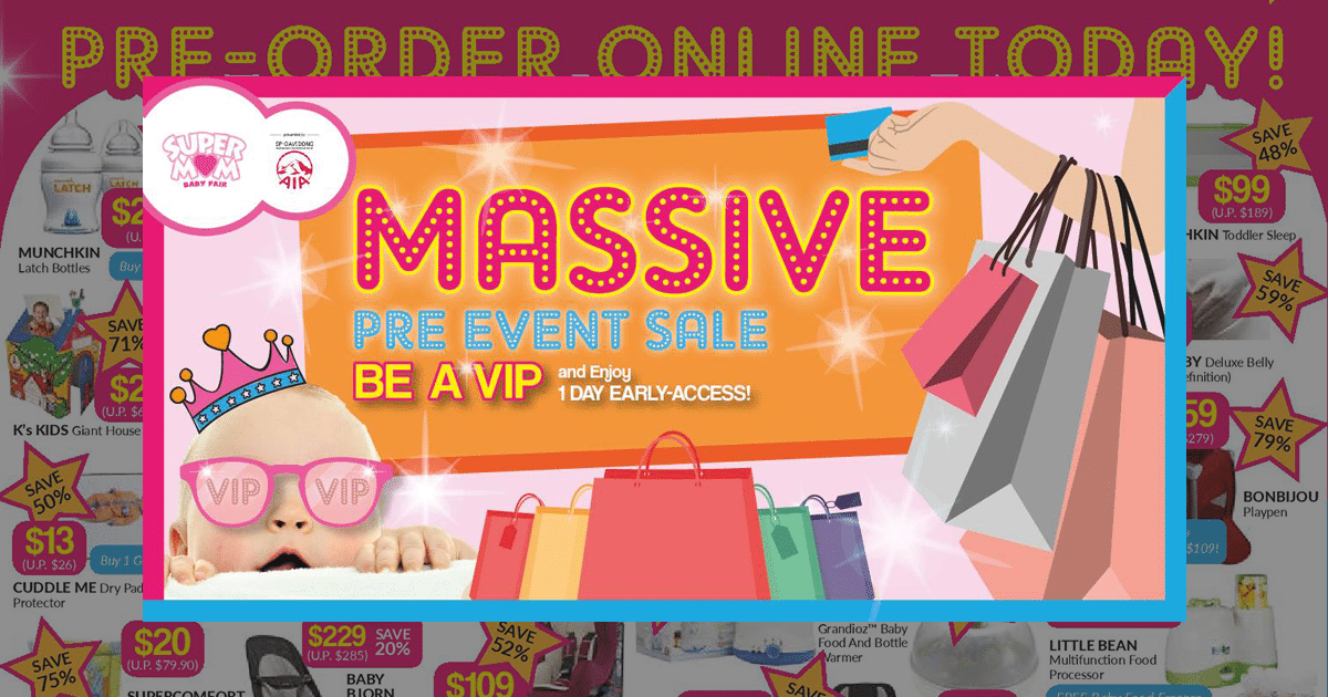 SuperMom Baby Fair 2016: Online Pre-order Sale Event starts on June 27