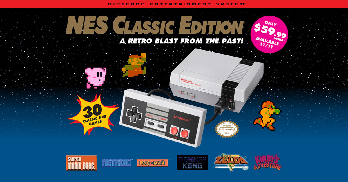 Nintendo is bringing back the NES with 30 Classic Games included