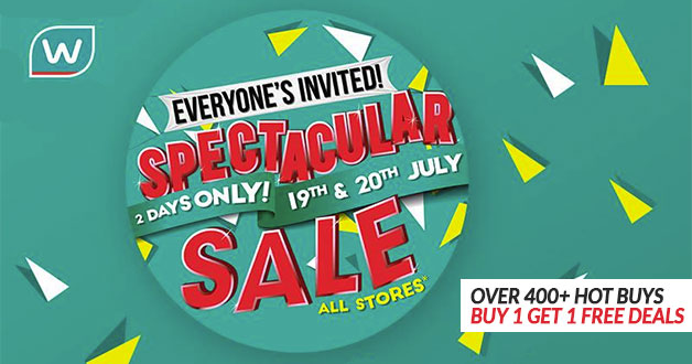 Watsons Spectacular Sale: Over 400 Hot Buys + Buy 1 Get 1 Free Deals for 2 Days