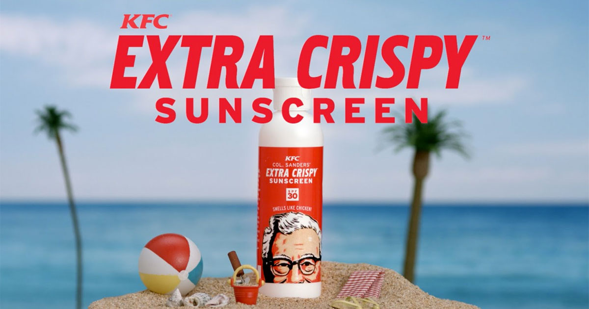 KFC is reportedly making a Sunscreen that smells like Fried Chicken