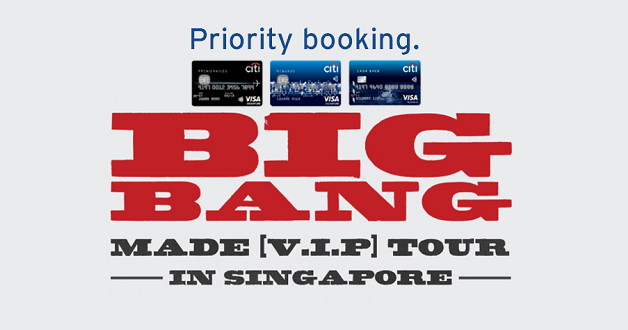 BIGBANG is coming to Singapore again, priority booking for Citibank Credit Cards