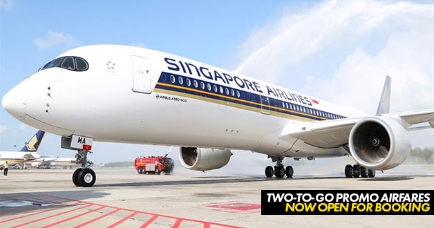 Latest Singapore Airlines Two-to-Go discounted airfares for October now available