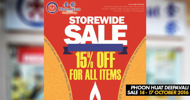 Phoon Huat Deepavali Sale to offer 15% off storewide items this coming weekend