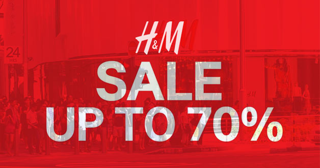 The H&M Sale just got even better. Now up to 70% discount in stores