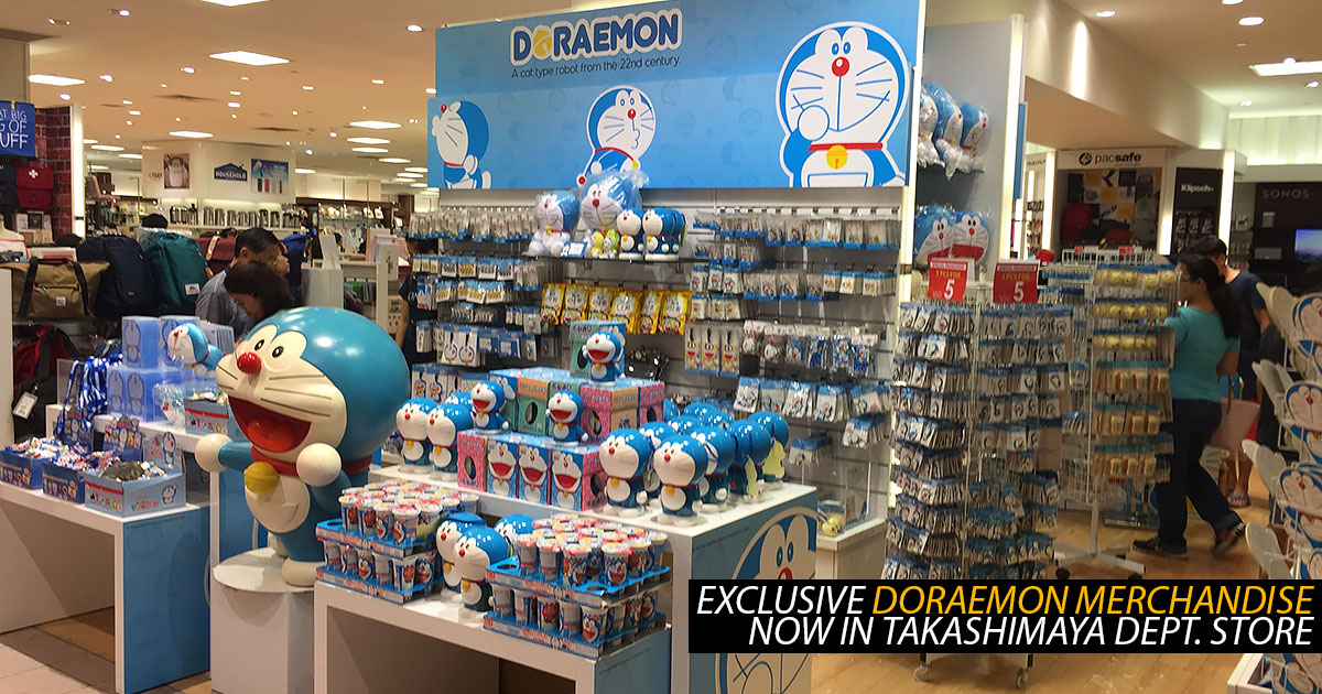 Doraemon merchandise has arrived at Takashimaya Departmental Store