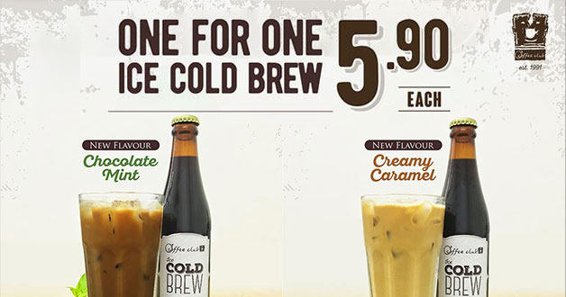 Cool down with O'Coffee Club 1-for-1 Signature Cold Brews for just $5.90
