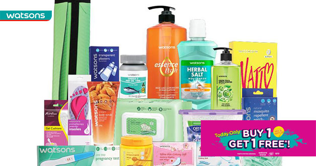 Watsons One-Day Sale: Buy 1 Get 1 Free on house branded items and more