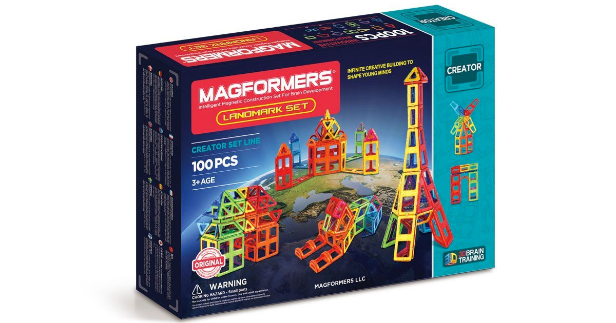 Christmas gift idea for growing kids: Magformers magnetic construction sets