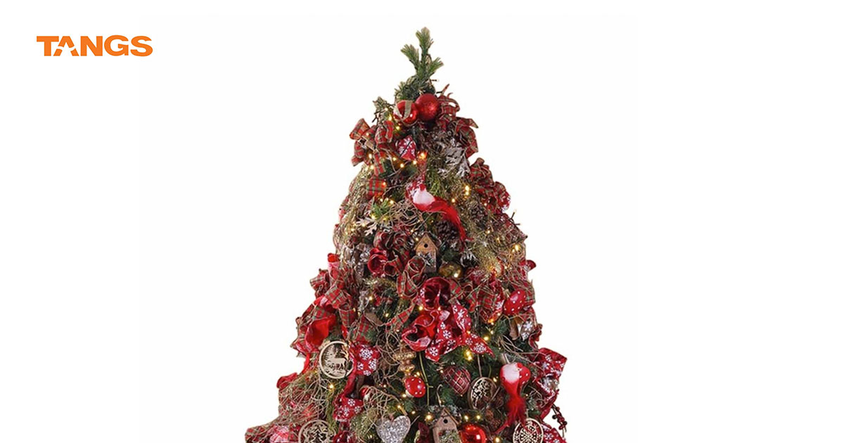 This Atrio Traditional Red Christmas Tree from TANGS will cost you $2,500