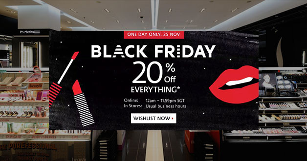 Don't forget to visit Sephora Black Friday 20% Storewide Sale when midnight strikes