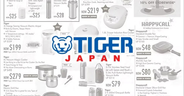 Isetan's Tiger Fair on Black Friday lets you take home Japanese kitchen products at huge discounts