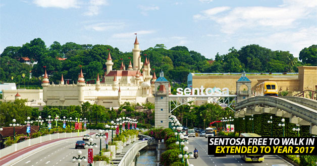 Sentosa continues to waive walk-in entrance fee throughout 2017