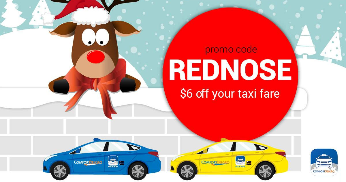 Another Christmas promo code from ComfortDelGro: $6 off taxi rides this long weekend